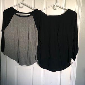 Mossimo 3/4 sleeve baseball t-shirts